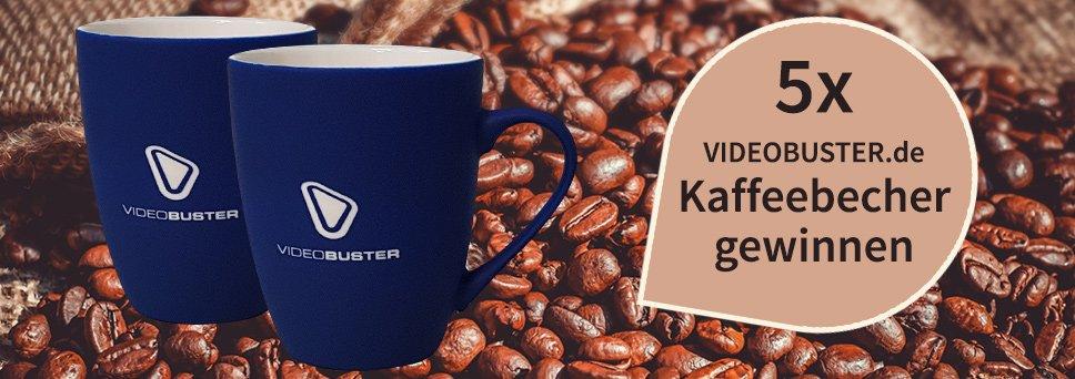 VIDEOBUSTER Kaffeebecher Gewinnspiel