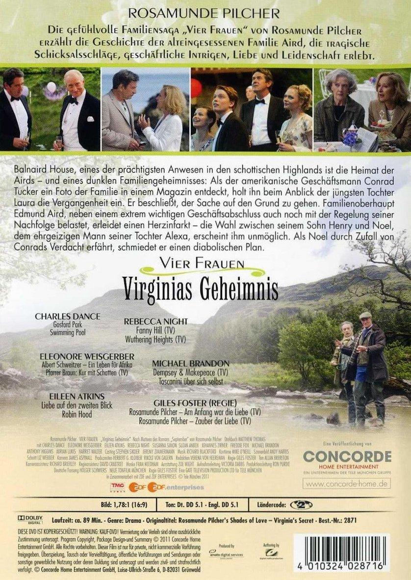 Rosamunde Pilchers Vier Frauen 1 Virginias Geheimnis Dvd Oder