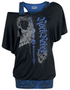 Rock Rebel by EMP When The Heart Rules The Mind T-Shirt schwarz blau powered by EMP (T-Shirt)