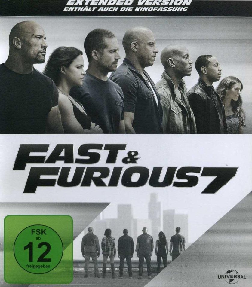 fast furious 7 dvd blu ray reviews movie2digital. Black Bedroom Furniture Sets. Home Design Ideas