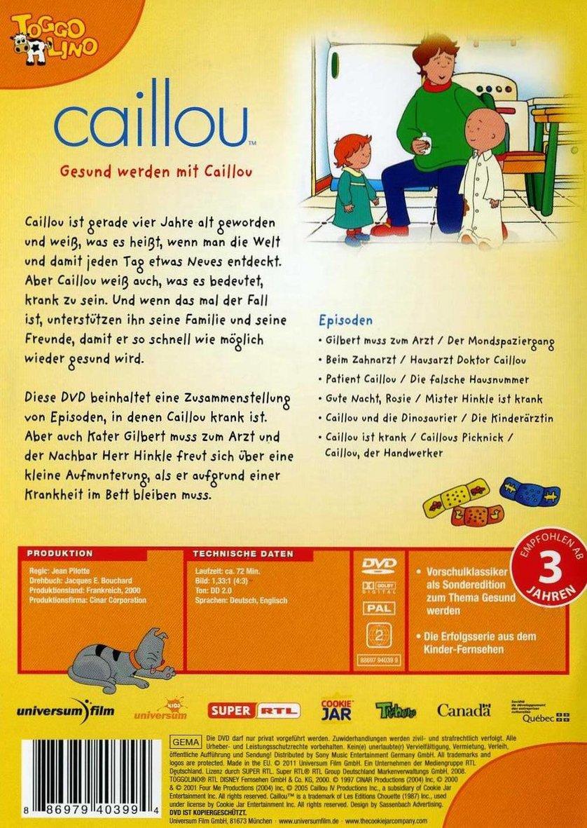 gesund werden mit caillou dvd oder blu ray leihen. Black Bedroom Furniture Sets. Home Design Ideas