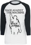 Rage Against The Machine Album Cover Langarmshirt weiß schwarz powered by EMP (Langarmshirt)