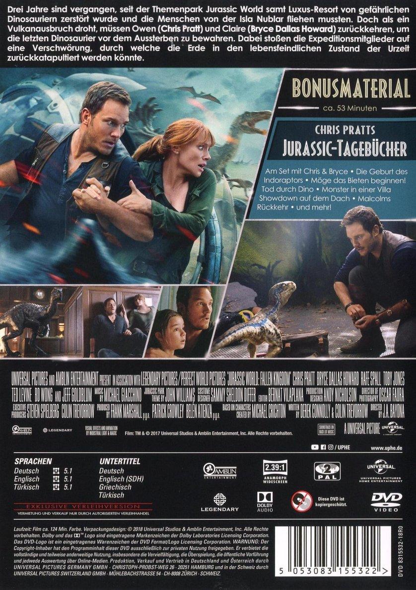 Jurassic World Das Gefallene Königreich Dvd