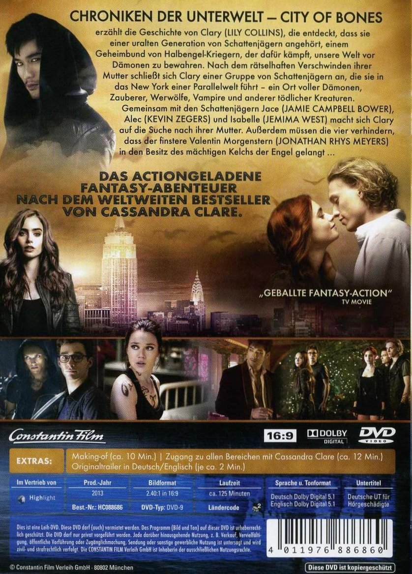 Chroniken Der Unterwelt City Of Bones Ganzer Film Deutsch