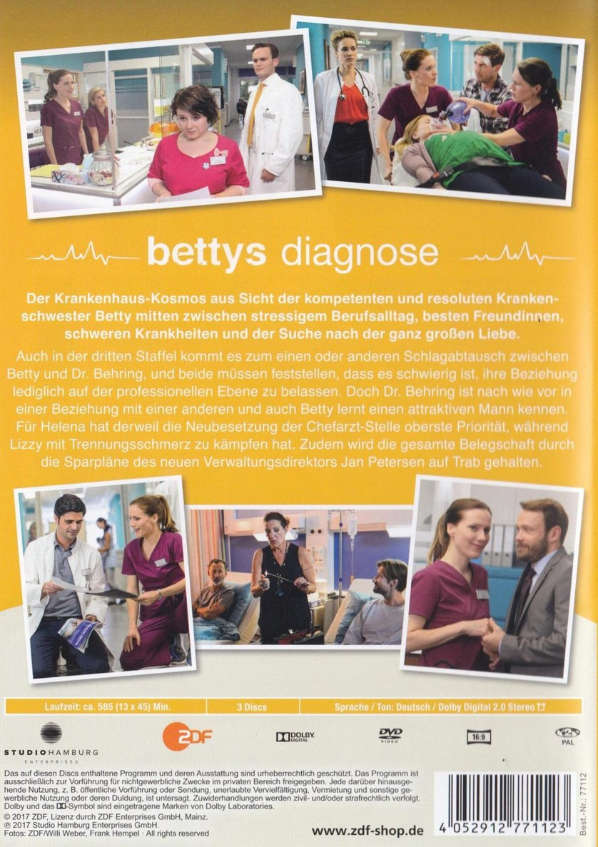 Bettys diagnose staffel 3 dvd oder blu ray leihen for Bettys diagnose