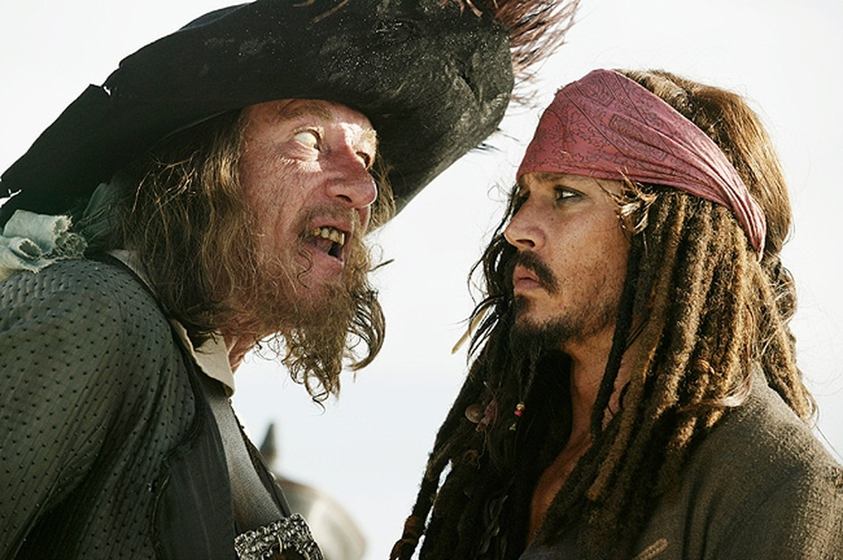 Geoffrey Rush und Johnny Depp © Walt Disney Home Entertainment 2007