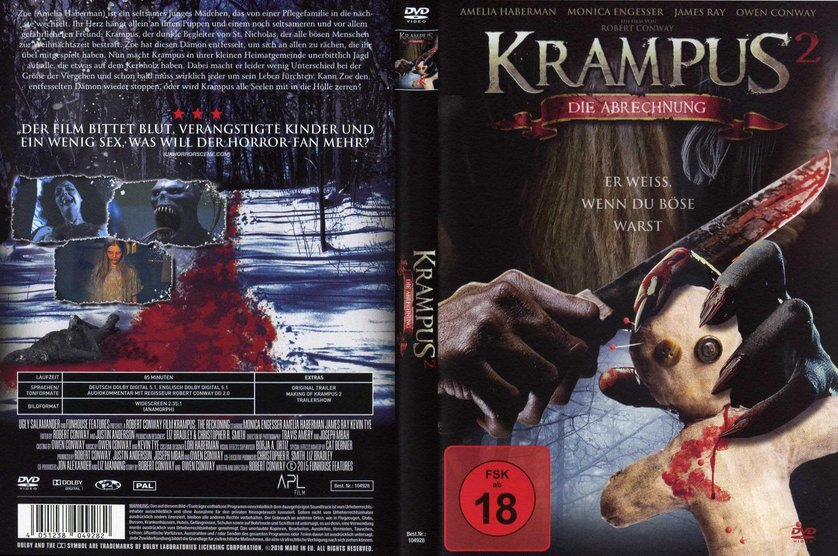 krampus 2 die abrechnung dvd blu ray oder vod leihen. Black Bedroom Furniture Sets. Home Design Ideas