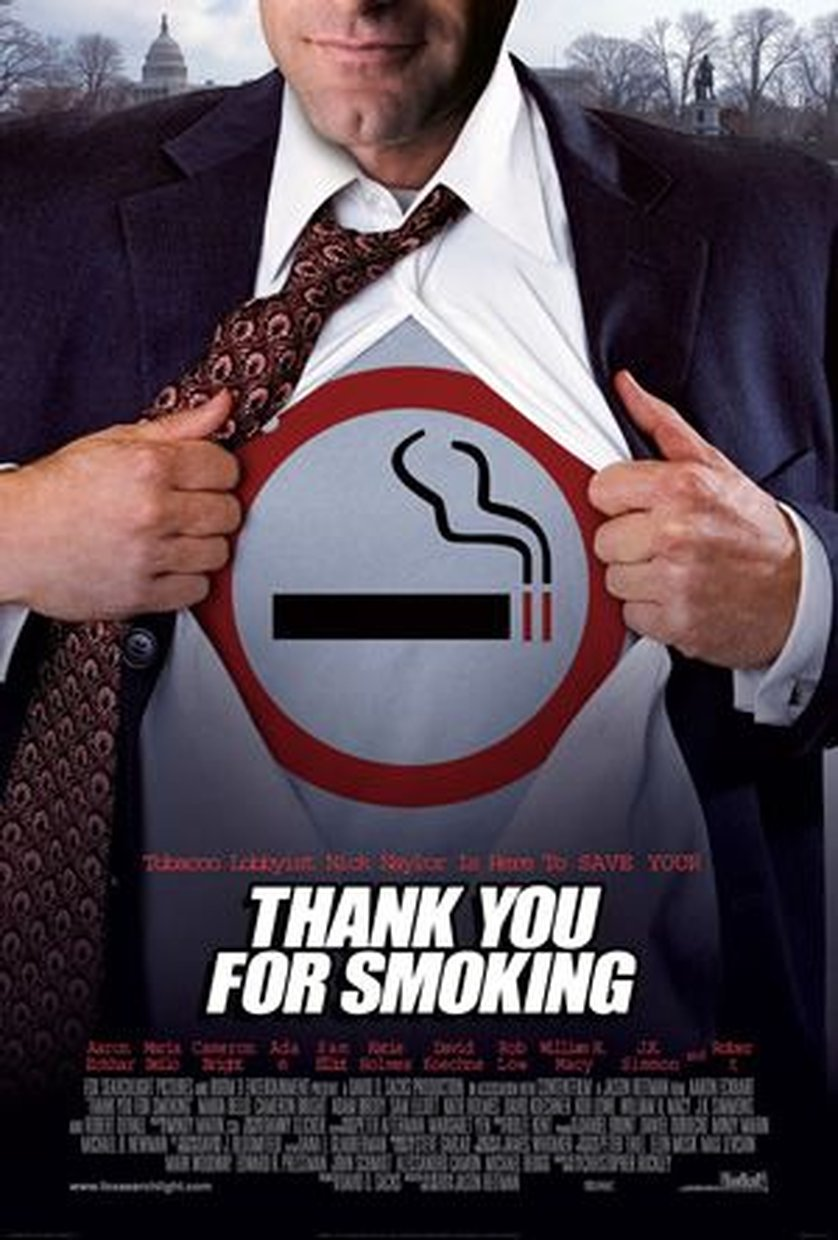 thank you of smoking Satirical comedy follows the machinations of big tobacco's chief spokesman, nick naylor, who spins on behalf of cigarettes while trying to remain a role model for his twelve-year-old son.
