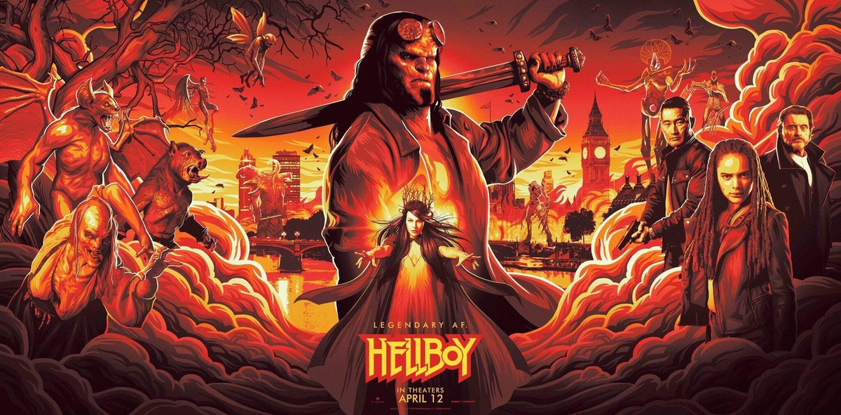 US-Postermotiv zu 'Hellboy - Call of Darkness' © Millennium Films