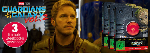 Guardians of the Galaxy 2 Gewinnspiel: Knopf drücken & galaktische Preise gewinnen