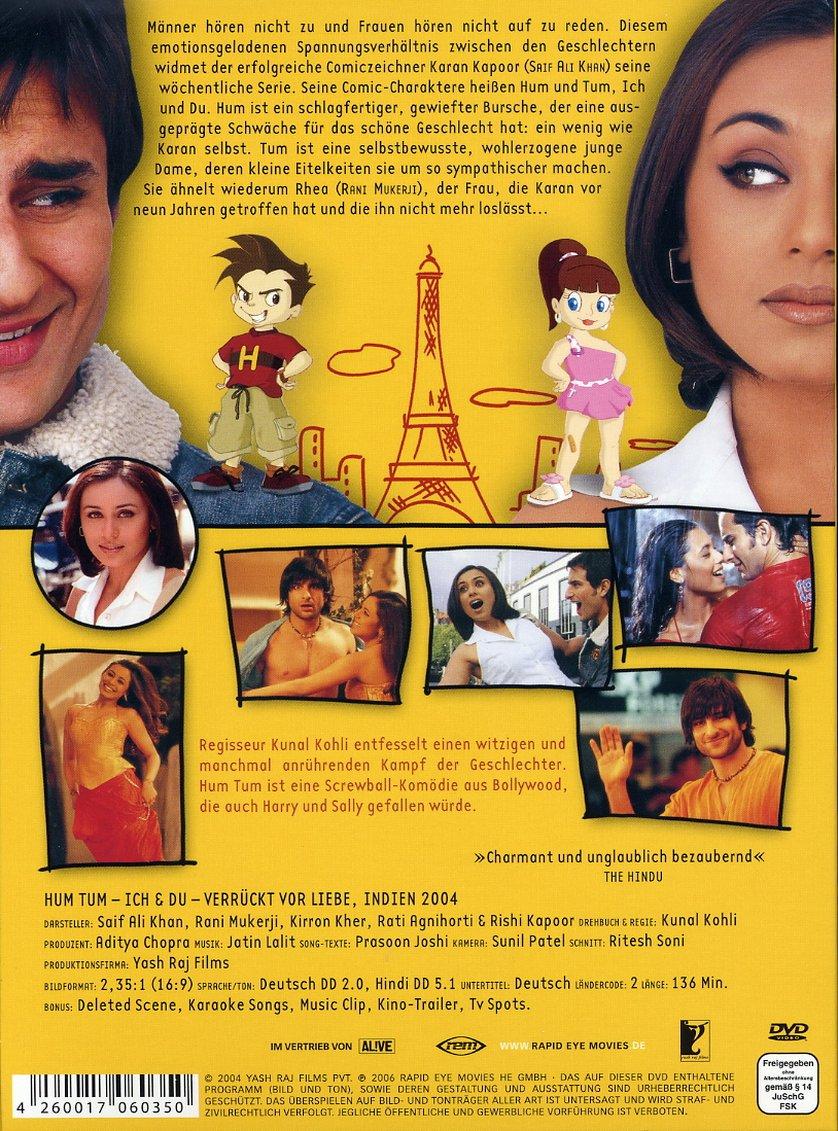 Hum Tum - Ich & Du - verrückt nach Liebe: DVD oder Blu-ray ...