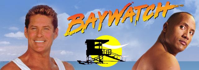Baywatch - Der Film: Am 'Baywatch' Strand: Dwayne Johnson in roter Badehose