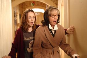 Mit Filmmutter Diane Keaton in 'Die Familie Stone' 2005
