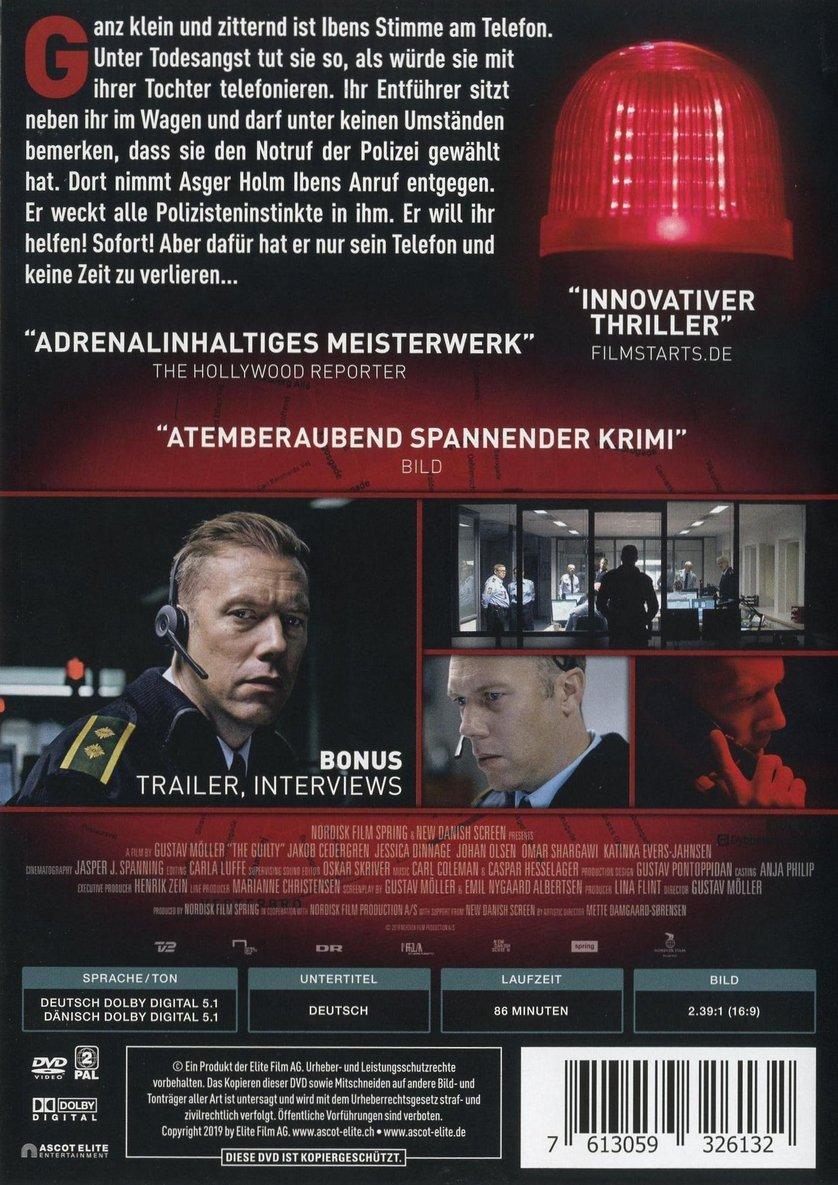 The Guilty Dvd Blu Ray Oder Vod Leihen Videobuster De