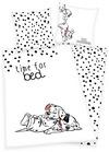 101 Dalmatiner Time For Bed Bettwäsche weiß schwarz powered by EMP