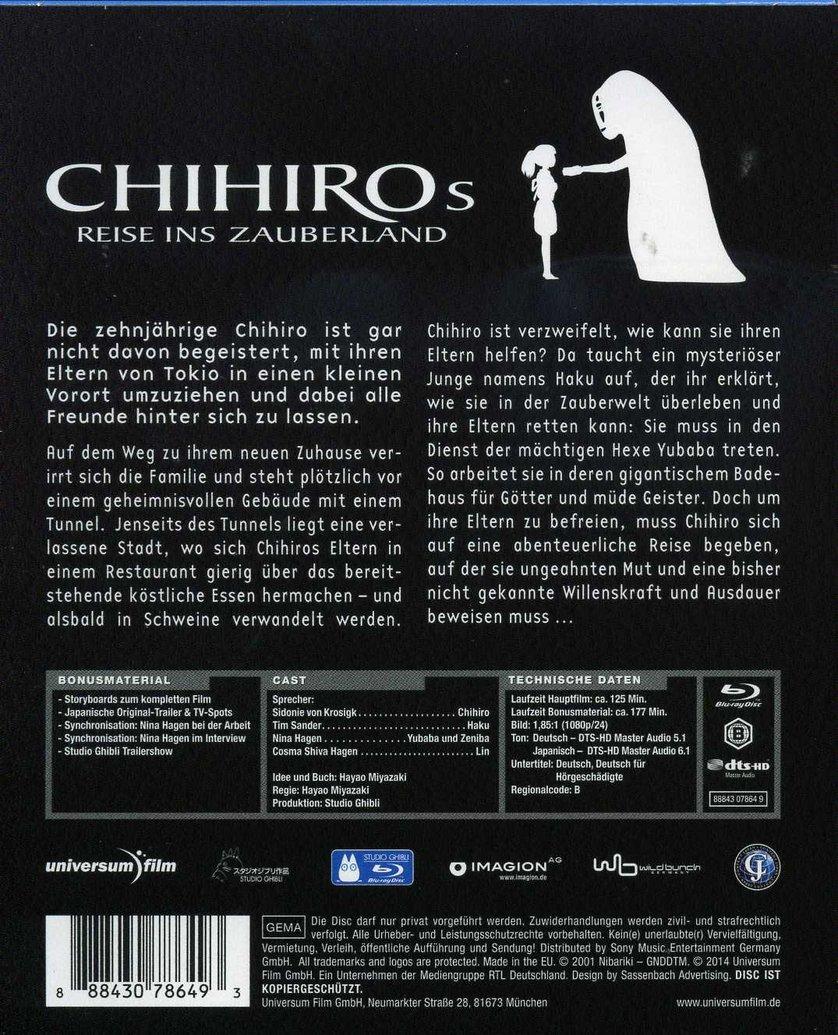 Chihiros Reise Ins Zauberland Hd