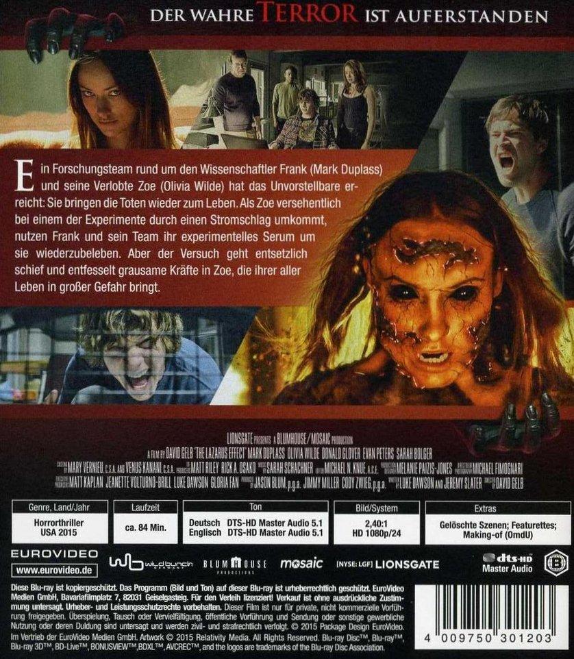 The Lazarus Effect DVD, Blu ray oder VoD leihen   VIDEOBUSTER.de