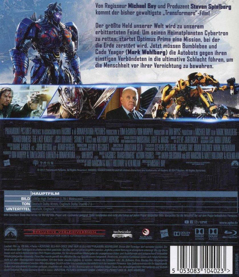 Transformers 5 The Last Knight Dvd Oder Blu Ray Leihen