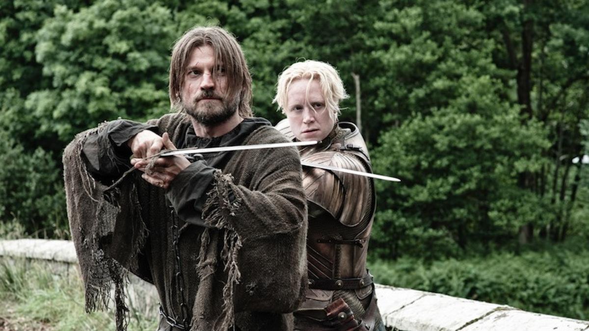 Nikolaj Coster-Waldau und Gwendoline Christie in 'Game of Thrones - Staffel 3' (USA 2013) © HBO
