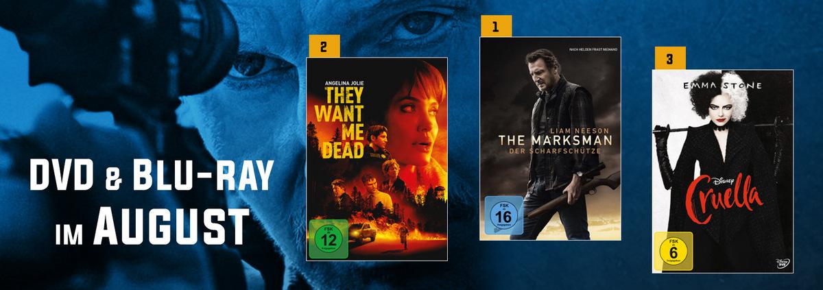 DVD & Blu-ray Charts 08-2021: Liam Neesons neuer Film siegt im August