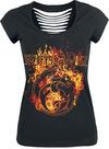Feuerschwanz Fire Logo powered by EMP (T-Shirt)