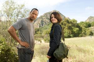 Carla Guino stand bereits 2009 mit Johnson vor der Kamera: 'Die Jagd zum magischen Berg'
