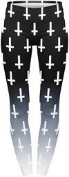 Kuku Bird Unholy Cross Black Leggings schwarz weiß powered by EMP (Leggings)