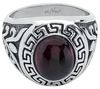 etNox hard and heavy Meander Crystal Ring schwarz silberfarben powered by EMP (Ring)
