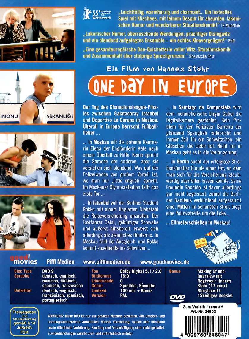 One Day in Europe: DVD oder Blu-ray leihen - VIDEOBUSTER.de