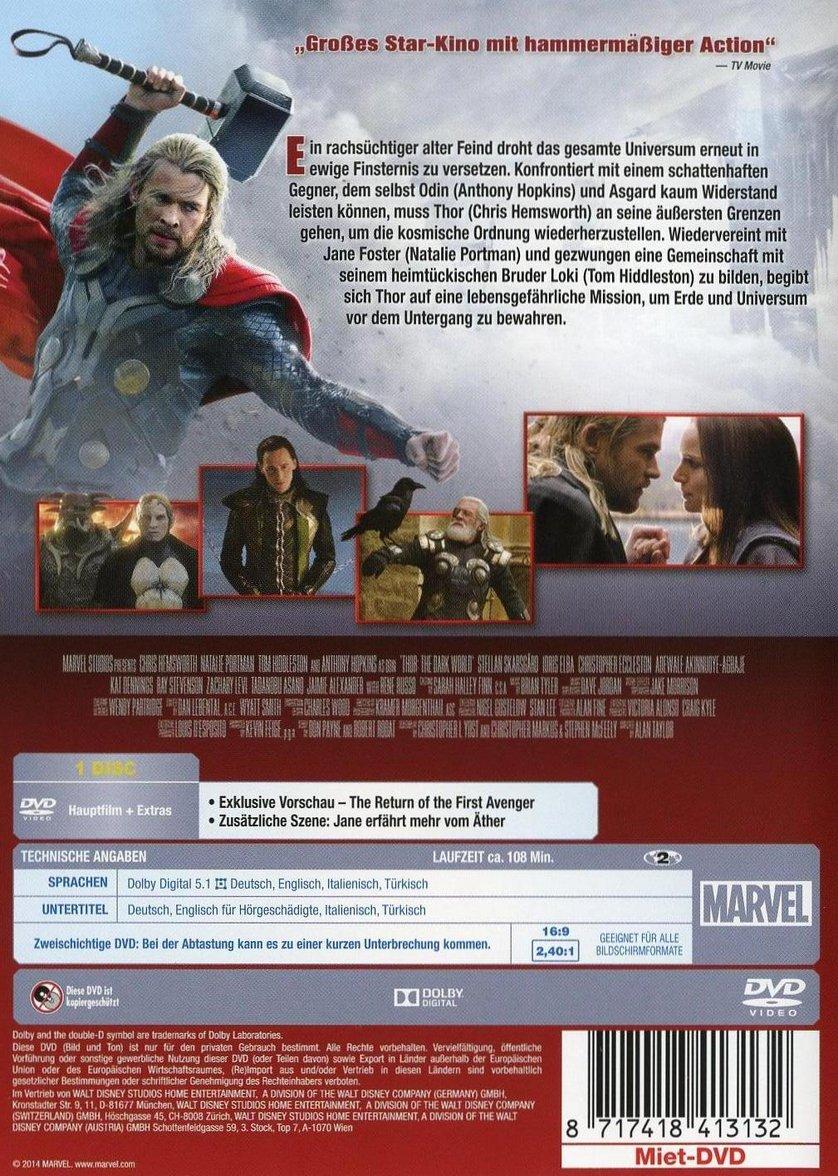 Thor 2 The Dark Kingdom Dvd Oder Blu Ray Leihen Videobusterde