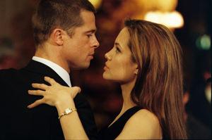 Jolie und Ehemann Brad Pitt in 'Mr. & Mrs. Smith'