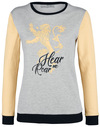 Game Of Thrones House Lannister - Hear Me Roar Sweatshirt grau meliert gelb powered by EMP