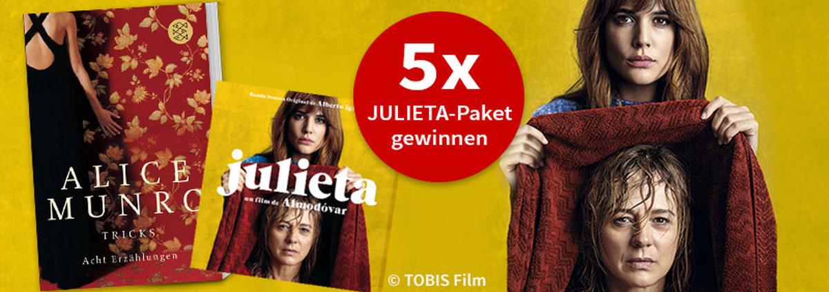 Julieta Gewinnspiel: Gewinnt Julieta-Pakete mit Büchern und CDs!