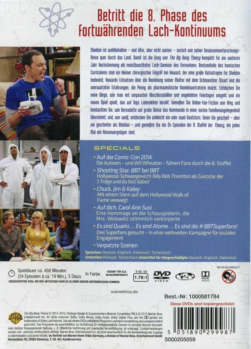 The Big Bang Theory Staffel 8 Dvd