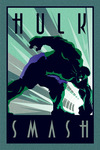 Hulk Marvel Deco - Hulk powered by EMP (Poster)