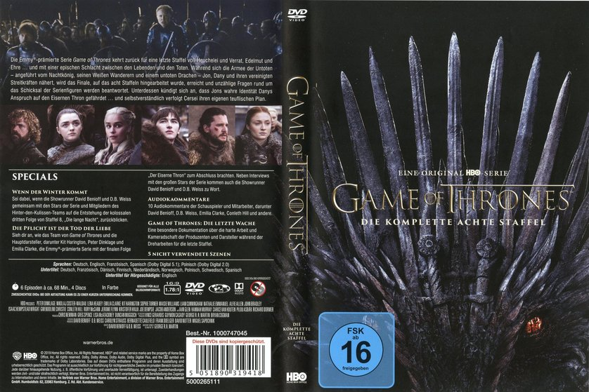 Game Of Thrones Staffel 8 Dvd