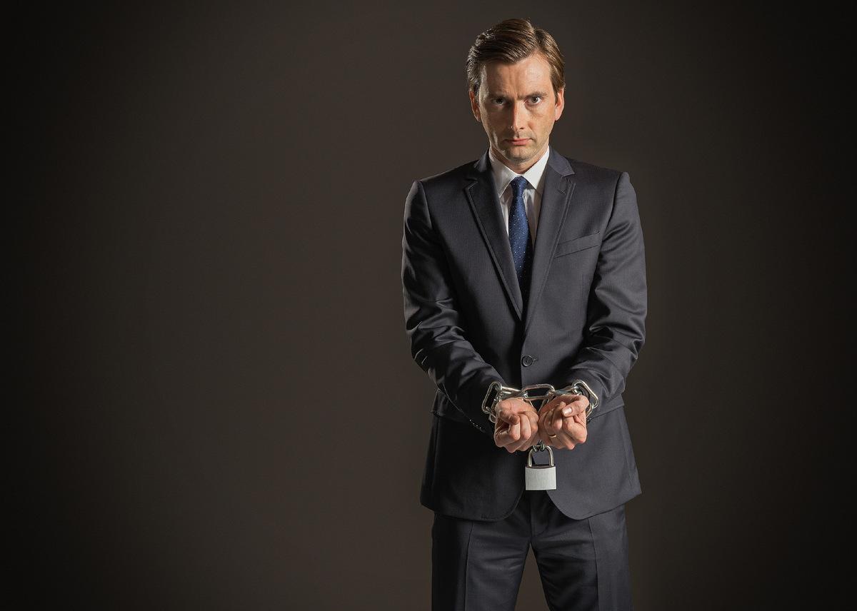 David Tennant in 'Der Anwalt des Teufels' (Großbritannien 2013) © BBC
