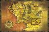 Der Herr der Ringe Middle Earth Map powered by EMP (Poster)