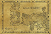 Game Of Thrones Antique Map powered by EMP (Poster)