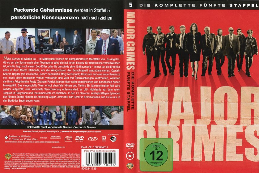 Major Crimes Staffel 5