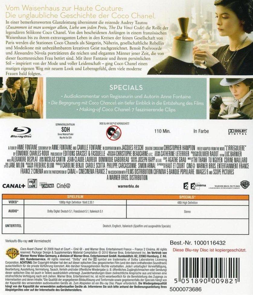 Coco Chanel: DVD, Blu-ray oder VoD leihen - VIDEOBUSTER.de