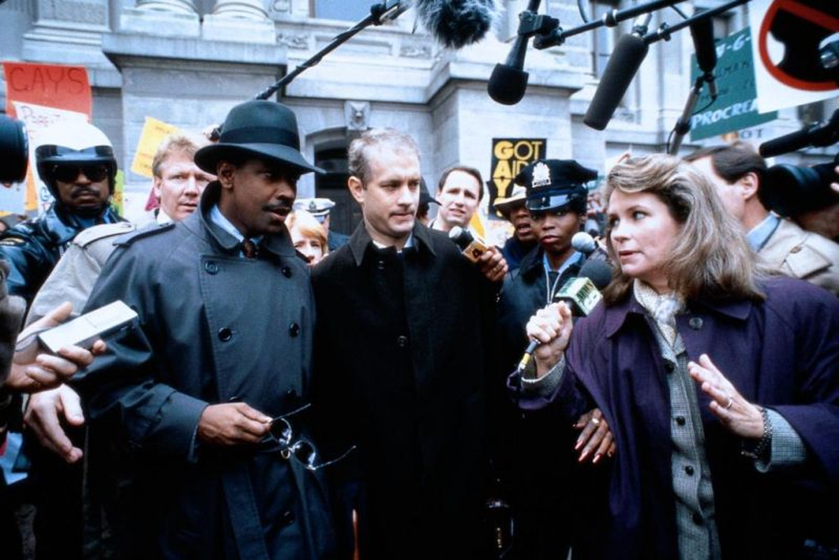 Denzel Washington und Tom Hanks in 'Philadelphia' (USA 1993) © Columbia Tristar
