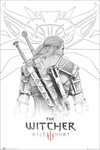 The Witcher 3 - Wild Hunt - Geralt Sketch powered by EMP (Poster)