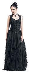 Sinister Gothic Velvet Longdress powered by EMP (Langes Kleid)