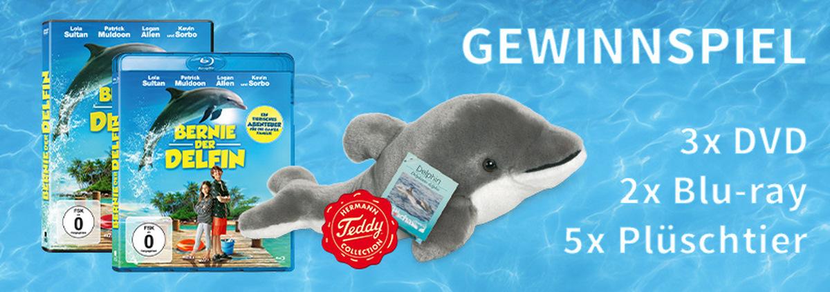 Gewinnspiel BERNIE, DER DELFIN: Dein eigener Delfin! Im BERNIE-Gewinnspiel