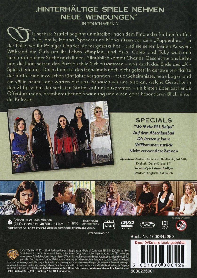 Pretty Little Liars Staffel 6 Dvd Deutsch