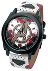 Avengers Avengers Logo Armbanduhren weiß schwarz rot powered by EMP (Armbanduhren)