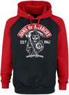 Sons Of Anarchy Redwood Original Kapuzenpullover schwarz rot powered by EMP