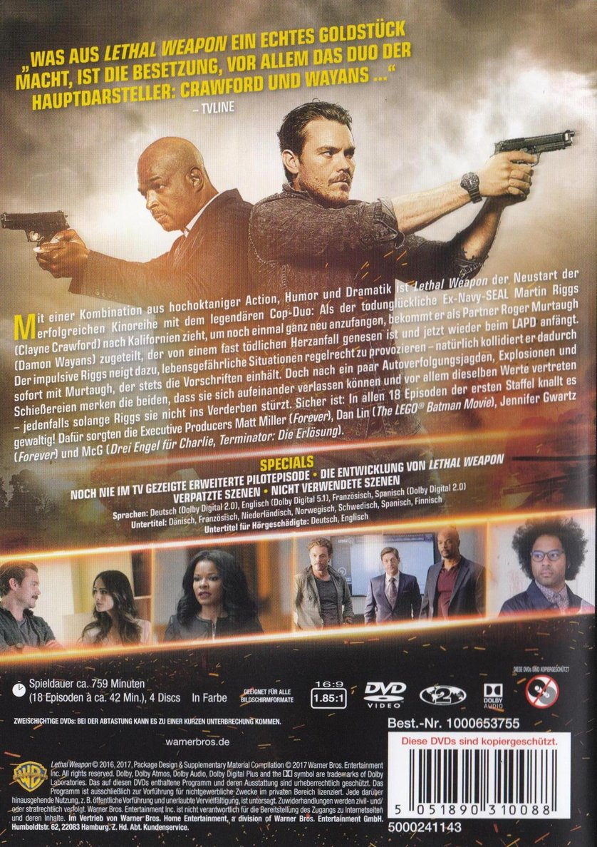 lethal weapon staffel 1