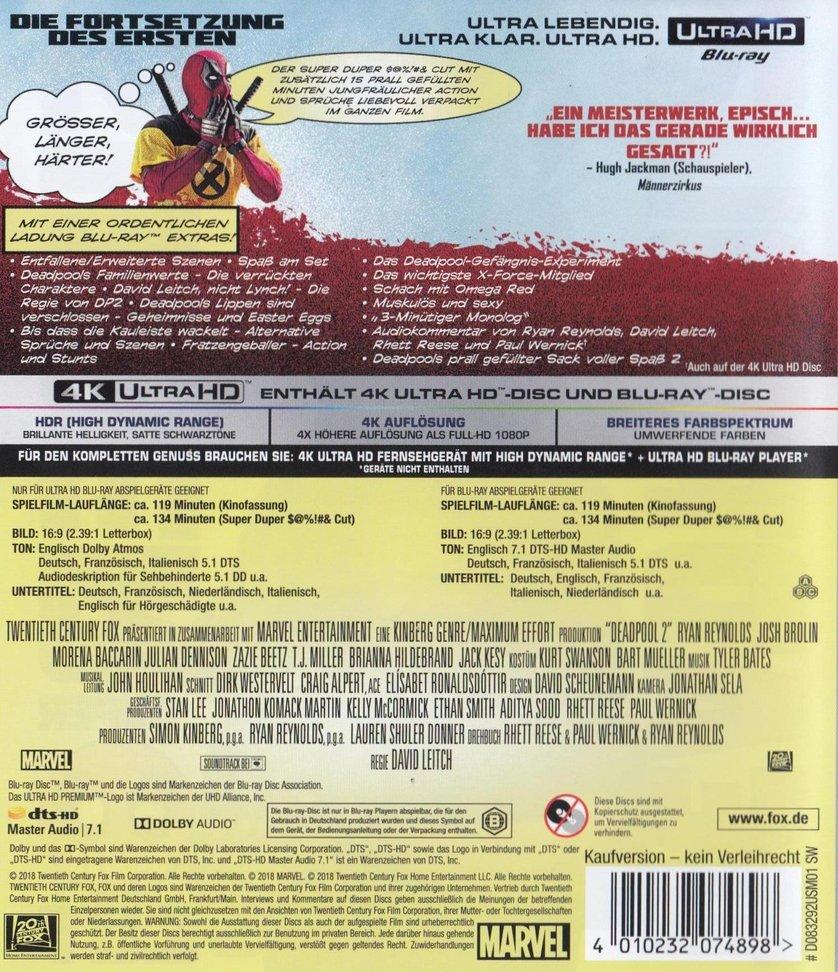 Deadpool 2 Dvd Oder Blu Ray Leihen Videobuster De